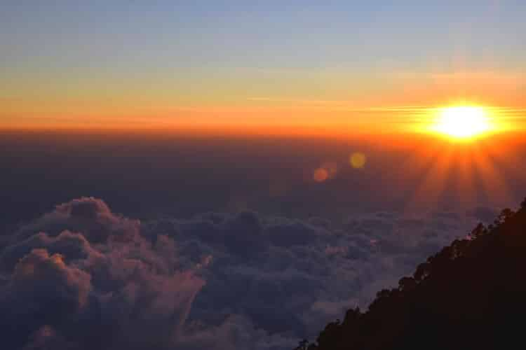 Tajamulco coucher soleil