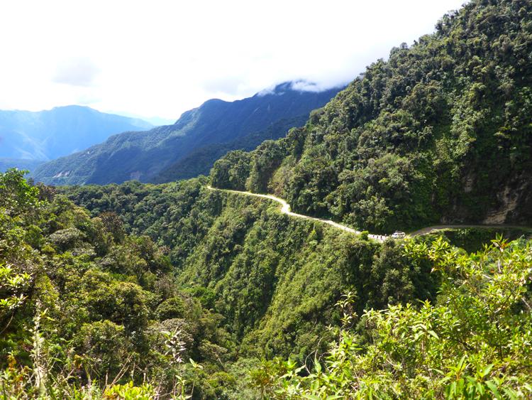 Descente route de la mort Bolivie