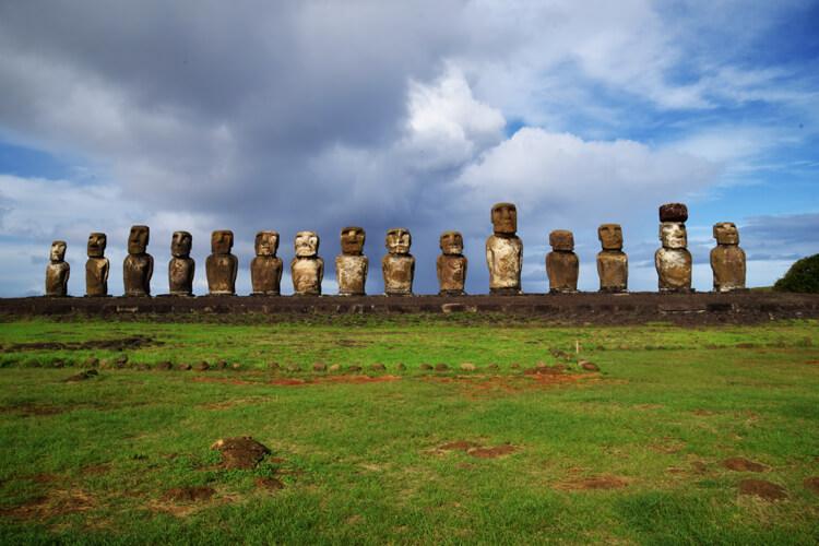 île de Pà¢ques Ahu Tongariki face