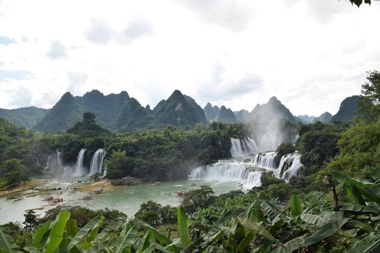 Visite des cascades de Detian