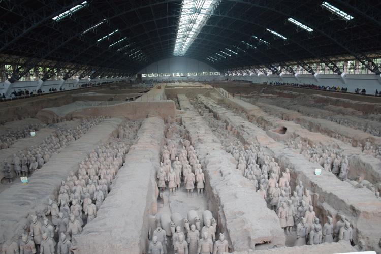 L'armée de terre cuite de Xi'An. Visite de ce lieu incroyable