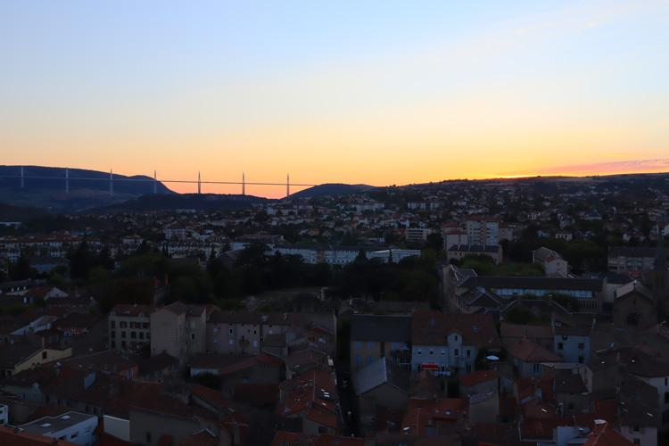 coucher de soleil Millau