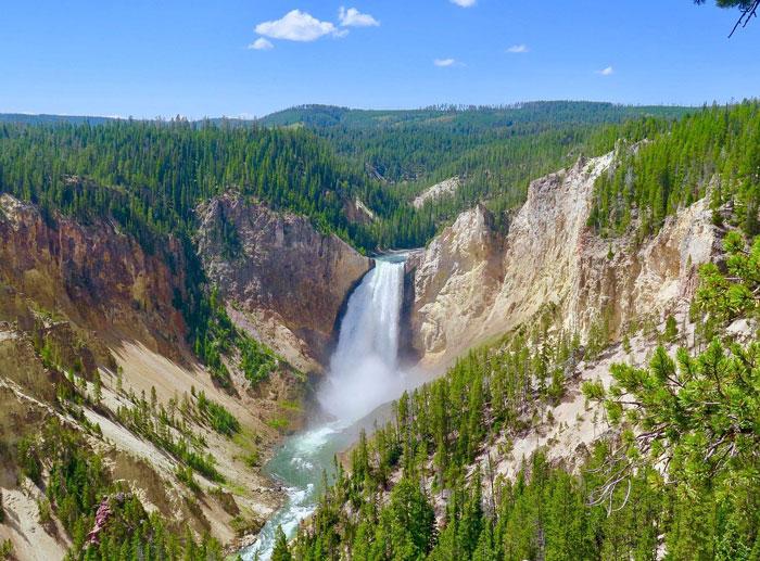 Les plus belles cascade du monde Yellowstone