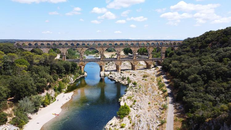 Visite du pont du Gard : à pied et en kayak